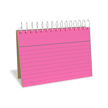 """TRU RED™ 3"""" x 5"""" Index Cards, Lined, Neon, 50 Cards/Pack, 2 Packs/Carton (TR50994)"""