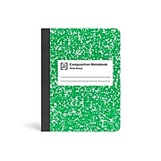 """TRU RED™ Composition Notebook, 7.5"""" x 9.75"""", Wide Ruled, 80 Sheets, Green/White (TR55074)"""