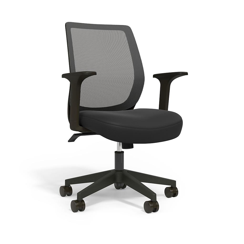 Essentials Mesh Back Fabric Task Chair, Black (UN56947)