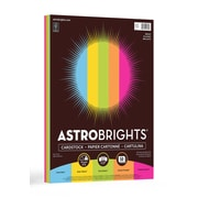 "Astrobrights Bright Cardstock Paper, 65 lbs., 8.5"" x 11"", Assorted Colors, 50 Sheets/Pack (99326-01)"