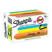 Sharpie Tank Highlighters, Chisel Tip, Orange, Dozen (25006)