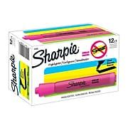 Sharpie Tank Highlighter, Chisel Tip, Pink, Dozen (25009)