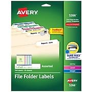 Avery® Permanent File Folder Labels with TrueBlock™