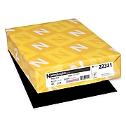 """Astrobrights Colored Paper, 24 lbs., 8.5"""" x 11"""", Eclipse Black, 500 Sheets/Ream (22321)"""