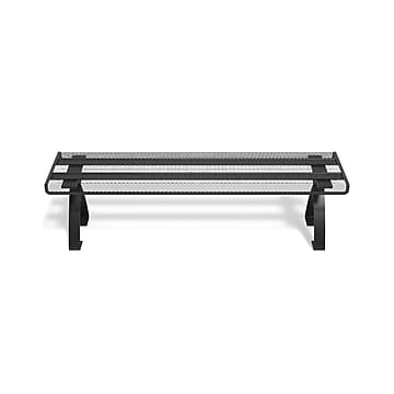 TRU RED™ Wire Mesh Desktop Shelf, Matte Black (TR57542)
