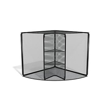 TRU RED™ 4 Compartment Wire Mesh Corner Organizer, Matte Black (TR57976)