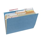 Smead TUFF Hanging File Folders with Easy Slide™ Tab, 1/3 Cut, Letter Size, Multicolor, 15/Box (64040)