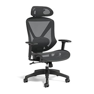 Union & Scale™ FlexFit Dexley Mesh Task Chair, Black (UN56946)