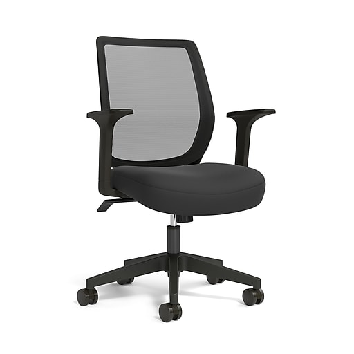 Union Scale Essentials Mesh Back Fabric Task Chair Black Un56947 At Staples