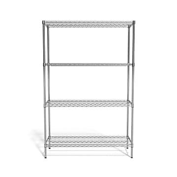 """Coastwide Professional™ 4-Shelf Wire Unit, 48""""W, Chrome (CW25477)"""