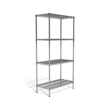 """Coastwide Professional™ 4-Shelf Wire Unit, 36""""W, Chrome (CW25472)"""