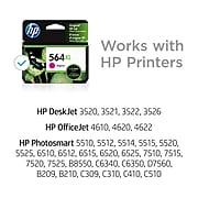 HP 564XL Magenta High Yield Ink Cartridge (CB324WN#140)