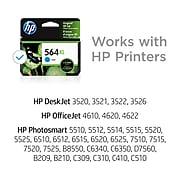 HP 564XL Cyan High Yield Ink Cartridge (CB323WN#140)