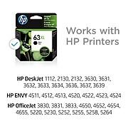 HP 63XL Black High Yield Ink Cartridge (F6U64AN#140)