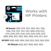 HP 61 Tri-Color Standard Yield Ink Cartridge (CH562WN#140)
