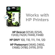 HP 60 Black Standard Yield Ink Cartridge, 2/Pack (CZ071FN#140)
