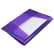 """JAM Paper Plastic Portfolio, Letter Booklet, 9 1/2"""" x 12 3/8"""", Purple (332532)"""