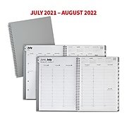 "2021-2022 TRU RED™ Academic 8"" x 11"" Weekly & Monthly Planner, Gray (TR25500-21)"