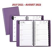 "2021-2022 TRU RED™ Academic 3"" x 6"" Weekly & Monthly Planner, Purple (TR25503-21)"