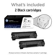 HP 85A Black Standard Yield Toner Cartridge, 2/Pack (CE285D)