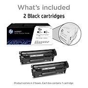 HP 12A Black Standard Yield Toner Cartridge, 2/Pack (Q2612D)