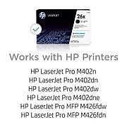 HP 26X Black High Yield Toner Cartridge (CF226X)