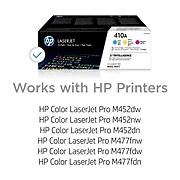 HP 410A Cyan/Magenta/Yellow Standard Yield Toner Cartridge, 3/Pack (CF251AM)