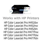 HP 410A Black/Cyan/Magenta/Yellow Standard Yield Toner Cartridge, 4/Pack
