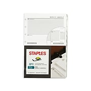 """2022 Staples 5.5"""" x 8.5"""" Weekly Planner Refill, Arc System (28103-22)"""