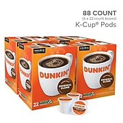 Dunkin' Donuts Original Blend Coffee, Keurig® K-Cup® Pods, Medium Roast, 88/Carton (400845)