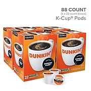 Dunkin' Midnight, Keurig Single Serve K-cup Pods, Dark Roast Coffee, 88 Count