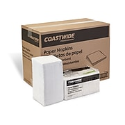 Coastwide Professional™ Compostable Recycled Napkin, 1-Ply, White, 400/Pack, 12 Pack/Carton (CW20179)