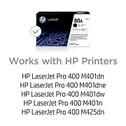 HP 80A Black Standard Yield Toner Cartridge (CF280A)