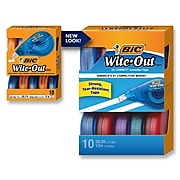 BIC Wite-Out EZ Correct Correction Tape, White, 10/Pack (50790)