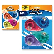 BIC Wite-Out EZ Correct Correction Tape, White, 4/Pack (50589)