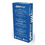 Expo Vis-A-Vis Wet Erase Markers, Fine Point, Black, Dozen (16001)