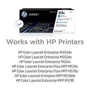 HP 212X Cyan High Yield Toner Cartridge (W2121X)