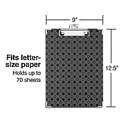 Sustainable Earth by Staples Hardboard Clipboard, Letter Size, Black (51877)