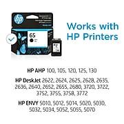 HP 65 Black Standard Yield Ink Cartridge (N9K02AN#140)