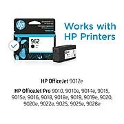 HP 962 Black Standard Yield Ink Cartridge (3HZ99AN#140)