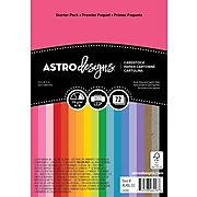"""Astrodesigns Creative Colored Paper, 65 lbs., 4.5"""" x 6.5"""", Assorted Colors, 72 Sheets/Pack (46416-03)"""