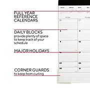 "2022 TRU RED™ 11"" x 18"" Desk Pad Calendar, Black/White (TR17392-22)"