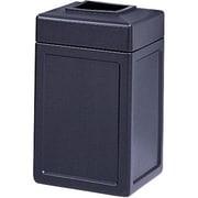 SafcoMD – Réceptacle Trophy CollectionMC de 38 gal, ouverture sur le dessus, 18 x 39 haut. (po), noir
