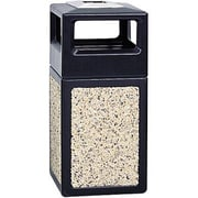 Safco® Canmeleon™ 9473TN Side Opening Square Aggregate Panel With Ash Urn, Tan, 38 gal.