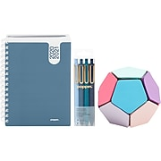 """2020-2021 Poppin 6"""" x 8.5"""" Planner and Writing Set, Slate Blue (108034)"""