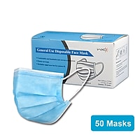 50-Count Disposable Earloop Half Face Mask