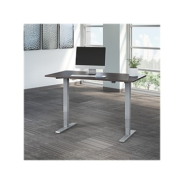 Move 40 Series by Bush Business Furniture 60W Height Adjustable Desk, Storm Gray/Cool Gray Metallic (M4S6030SGSK)