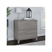 "Bush Furniture Somerset 2-Drawer Lateral File Cabinet, Letter/Legal, Platinum Gray, 30"" (WC81280)"