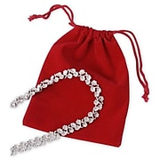 "Bags & Bows 4"" x 5 1/2"" Fabric Jewelry Pouch, Red, 100/Pack (B956-12)"