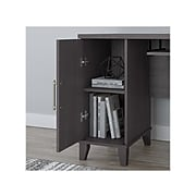 "Bush Furniture Somerset 72""W L-Shaped Desk with Hutch, Storm Gray (SET001SG)"